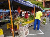 Αγορά αγροτών σε Paroi Jaya, Seremban, Negeri Sembilan στη Μαλαισία Στοκ Εικόνα