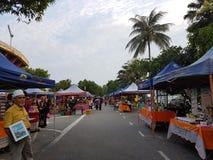 Αγορά αγροτών σε Paroi Jaya, Seremban, Negeri Sembilan στη Μαλαισία στοκ εικόνες