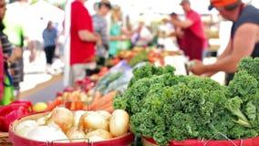 Αγορά αγροτών απόθεμα βίντεο