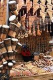 Αγορά αναμνηστικών Machu Picchu Pueblo Aguascaliente Στοκ Εικόνα