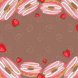 Αγορά αρτοποιείων Πλαίσιο για τις επιλογές καφέδων Πρότυπο σχεδίου τροφίμων η απεικόνιση στοών ανασκόπησης περισσότερο μου βλέπει Στοκ Εικόνα