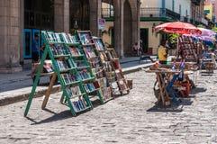 Αγορά βιβλίων Plaza de las Armas, Αβάνα, Κούβα Στοκ Εικόνες