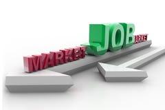 αγορά εργασίας διανυσματική απεικόνιση