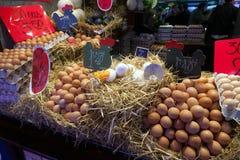 αγορά Ισπανία Λα boqueria της Βαρκελώνης Στοκ Εικόνες