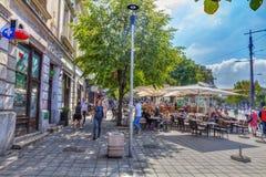 Αγορά και καφέδες Στοκ Φωτογραφίες