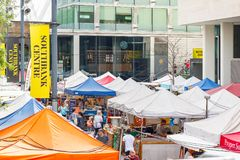 Αγορά κεντρικών τροφίμων Southbank, που προσφέρει μια μεγάλη σειρά των τροφίμων οδών Στοκ εικόνες με δικαίωμα ελεύθερης χρήσης