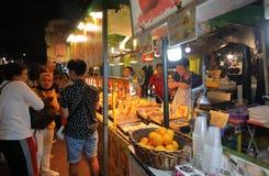 Αγορά Κουάλα Λουμπούρ Μαλαισία νύχτας οδών στοκ εικόνες
