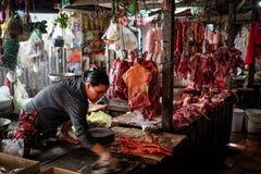 Αγορά κρέατος στην Καμπότζη Στοκ φωτογραφία με δικαίωμα ελεύθερης χρήσης