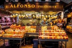 αγορά Λα boqueria της Βαρκελώνη&sig Στοκ εικόνες με δικαίωμα ελεύθερης χρήσης