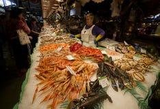 αγορά Λα boqueria της Βαρκελώνη&sig Στοκ φωτογραφία με δικαίωμα ελεύθερης χρήσης