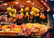 Αγορά Λα Boqueria στοκ εικόνες