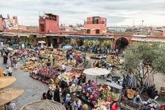 Αγορά Μαρακές Μαρόκο Berber Στοκ Φωτογραφίες