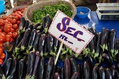 Αγορά μελιτζάνας Στοκ εικόνα με δικαίωμα ελεύθερης χρήσης