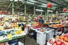 Αγορά νωπών καρπών πρωινού στην Κουάλα Lumnpur, Μαλαισία Στοκ Φωτογραφίες