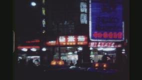 Αγορά νύχτας αλεών φιδιών απόθεμα βίντεο