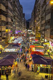 Αγορά νύχτας σε Mongkok, Χονγκ Κονγκ Στοκ Εικόνες