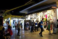 Αγορά νύχτας στη Μπανγκόκ, Ταϊλάνδη Στοκ εικόνα με δικαίωμα ελεύθερης χρήσης