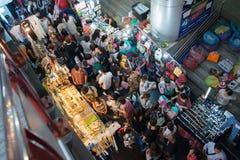 Αγορά νύχτας στις τετραγωνικές αγορές του Σιάμ Στοκ Εικόνες