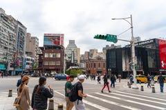 Αγορά οδών Ximending στην περιοχή Wanhua, Ταϊπέι στοκ φωτογραφίες