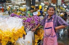 Αγορά λουλουδιών Khlong Talad Pak στη Μπανγκόκ Στοκ Φωτογραφία