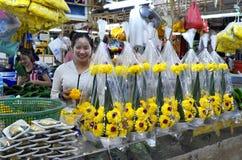 Αγορά λουλουδιών Khlong Talad Pak στη Μπανγκόκ Στοκ Φωτογραφίες
