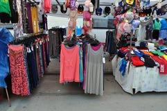 Αγορά οδών ενδυμάτων Στοκ Εικόνα
