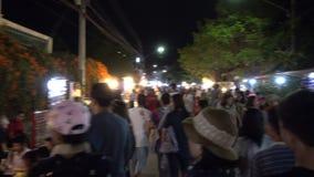 Αγορά οδών περπατήματος Kong TA Kad απόθεμα βίντεο
