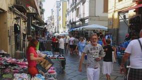 Αγορά οδών σε Napoli απόθεμα βίντεο