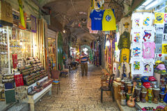 Αγορά παζαριών στην παλαιά πόλη Ισραήλ της Ιερουσαλήμ Στοκ εικόνα με δικαίωμα ελεύθερης χρήσης
