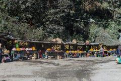 Αγορά πεζοδρομίων των φρούτων στοκ εικόνα με δικαίωμα ελεύθερης χρήσης