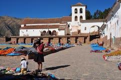 αγορά Περού chinchero στοκ φωτογραφία με δικαίωμα ελεύθερης χρήσης