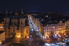 αγορά Πράγα Χριστουγέννων στοκ εικόνες