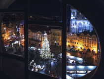 αγορά Πράγα Χριστουγέννων στοκ φωτογραφία