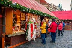 αγορά Πράγα Χριστουγέννων Στοκ φωτογραφία με δικαίωμα ελεύθερης χρήσης