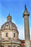Αγορά Ρώμη Ιταλία Trajan Column Nome Di Μαρία Church Trajan Στοκ εικόνα με δικαίωμα ελεύθερης χρήσης