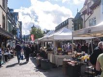 Αγορά σε Keswick στη βορειοδυτική Αγγλία, στην καρδιά της περιοχής λιμνών στοκ φωτογραφία με δικαίωμα ελεύθερης χρήσης