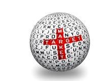 Αγορά στόχων τρισδιάστατη Στοκ Εικόνες