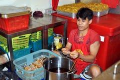 αγορά Ταϊλάνδη ατόμων αιθο&up Στοκ Εικόνα