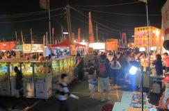 Αγορά Ταϊνάν Ταϊβάν νύχτας λουλουδιών του Ταϊνάν στοκ εικόνες