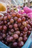 Αγορά Ταϊλανδός οδών φρούτων σταφυλιών Στοκ Εικόνες