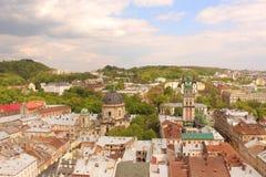 Αγορά τετραγωνικό Lviv Στοκ Φωτογραφίες