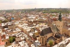 Αγορά τετραγωνικό Lviv Στοκ εικόνα με δικαίωμα ελεύθερης χρήσης