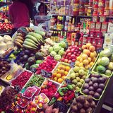Αγορά της Βαρκελώνης Boqueria Στοκ φωτογραφία με δικαίωμα ελεύθερης χρήσης