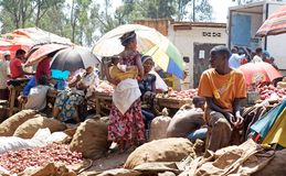 αγορά της Ρουάντα Στοκ Εικόνα