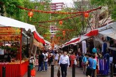 Αγορά της Σιγκαπούρης Chinatown Στοκ Φωτογραφίες