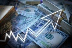 Αγορά του Bull που απογειώνεται παρουσιάζοντας μεγάλα κέρδη στην επένδυση υψηλή - ποιότητα στοκ εικόνα με δικαίωμα ελεύθερης χρήσης