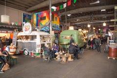 Αγορά τροφίμων οδών, Κοπεγχάγη, Δανία Στοκ Φωτογραφία