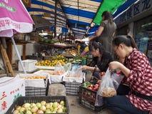 Αγορά τροφίμων σε Chengdu, Κίνα Στοκ φωτογραφίες με δικαίωμα ελεύθερης χρήσης