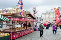 Αγορά τροφίμων στη Τάμπερε Φινλανδία στοκ εικόνες