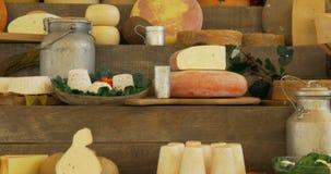 Αγορά τυριών απόθεμα βίντεο